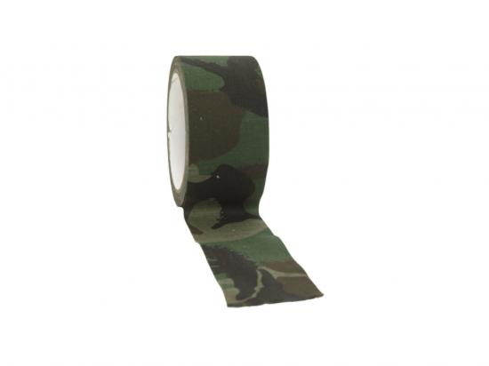 Maskovací páska textilní samolepící - Woodland