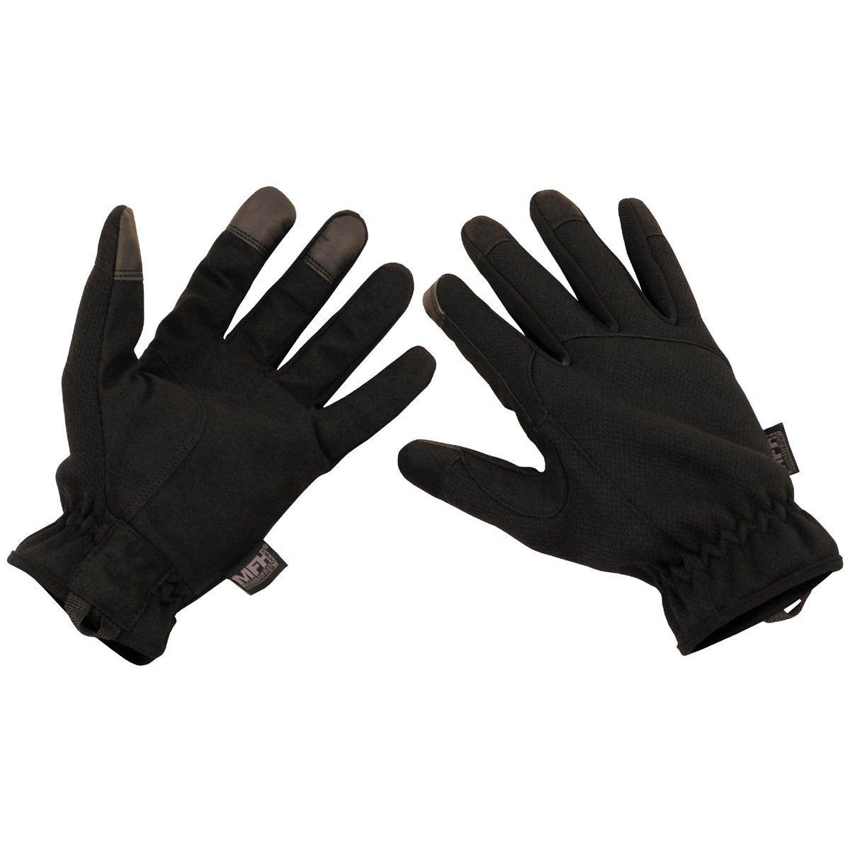 Lehké taktické rukavice černé